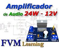 Amplificador de Audio 24W, 12V com CI TDA1516BQ + PCI