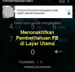 notifikasi facebook di layar terkunci