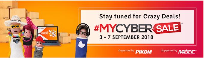 #MYCYBERSALE 2018 :Jualan 'Online' Terbesar Di Malaysia Kembali Lagi!