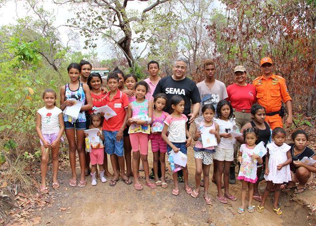 Sema realiza ações de prevenção e combate a incêndios florestais no Parque Estadual do Mirador