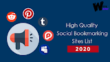 100 Top Social bookmarking Sites List for 2020 (High PR & Dofollow)