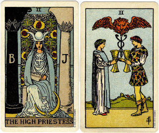 Two cards from the Centennial Tarot, (c) U.S. Games Systems, Inc.