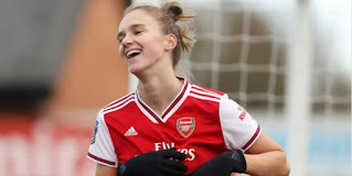 Arsenal Dutch striker Vivianne Miedema wins Women Super League's best-ever player