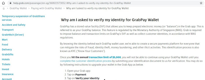 Why am I asked to verify my identity for GrabPay Wallet