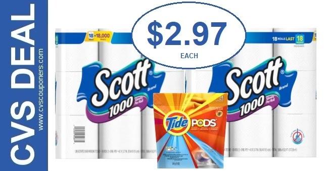 CVS Deal on Scott Bath Tissue 6/27-7/3