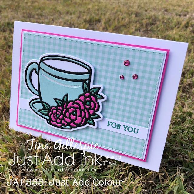 scissorspapercard, Stampin' Up!, Ink Road Stamps, Just Add Ink, Basics: Floral Coffee Mug, A Good Man, Subtles DSP
