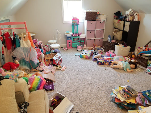 Marietta and Peachtree City Professional Organizer Project Declutter Toys in playroom
