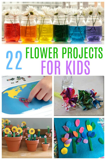 22 FUN Flower Projects - so many fun clever ways for kids to learn with flowers like flower science, flower printables, flower projects, flower crafts, flower language arts, and more. These are great for fun, educational activities for spring and summer learning for preschool, kindergarten, first grade, 2nd grade, and 3rd grade kids