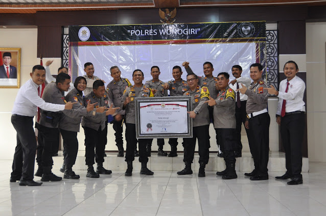 Polres Wonogiri Raih WBK dari Menteri PANRB
