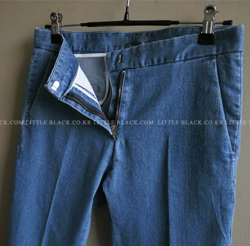 Denim Boot-Cut Pants