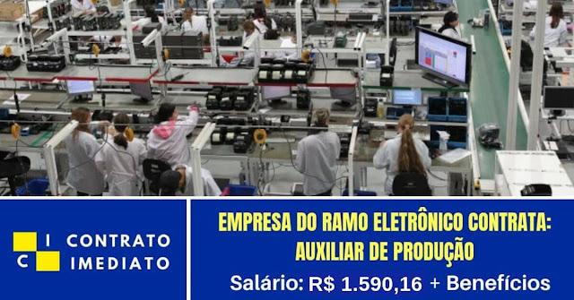 auxiliar de produção ramo eletronico