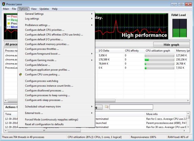 تحميل برنامج Process Lasso Pro 9.8.2.2  لتحسين أداء الكمبيوتر واستقراره