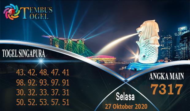 Nomor Ikut Togel Singapore Selasa 27 Oktober 2020