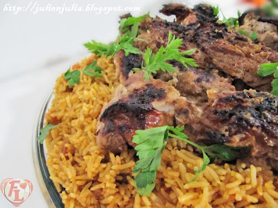 Ribs kabsa & Roasted lamb leg كبسة ريش الضأن مع فخذة ضأن مشوية