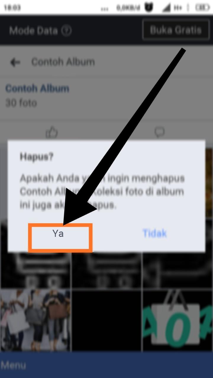 cara menghapus semua foto unggah seluler di fb
