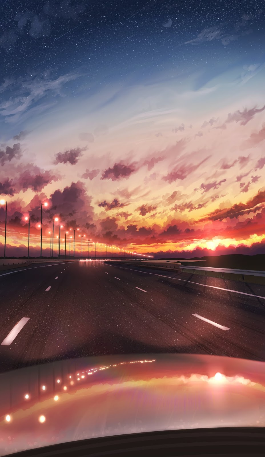 High way in the sunset by pasoputi