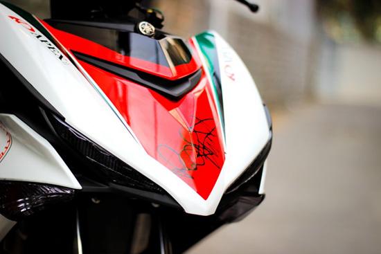 Sơn xe Exciter 150 theo phong cách Ducati cá tính