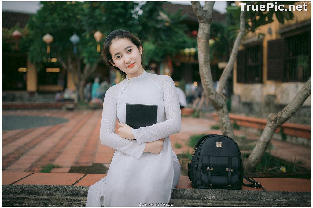 Image Vietnamese Cute Girl - Vo Xuan Chau - Ao Dai at Hoi An - TruePic.net - Picture-6