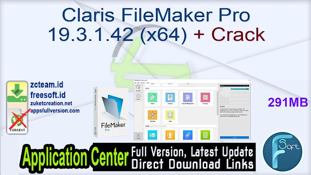 Claris FileMaker Pro 19.3.1.42 (x64) + Crack_ ZcTeam.id