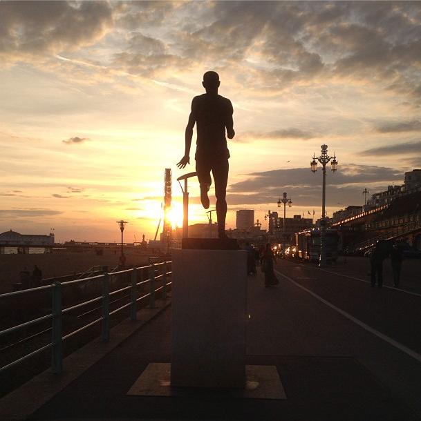 Steve Ovett Olympian statue brighton seafront