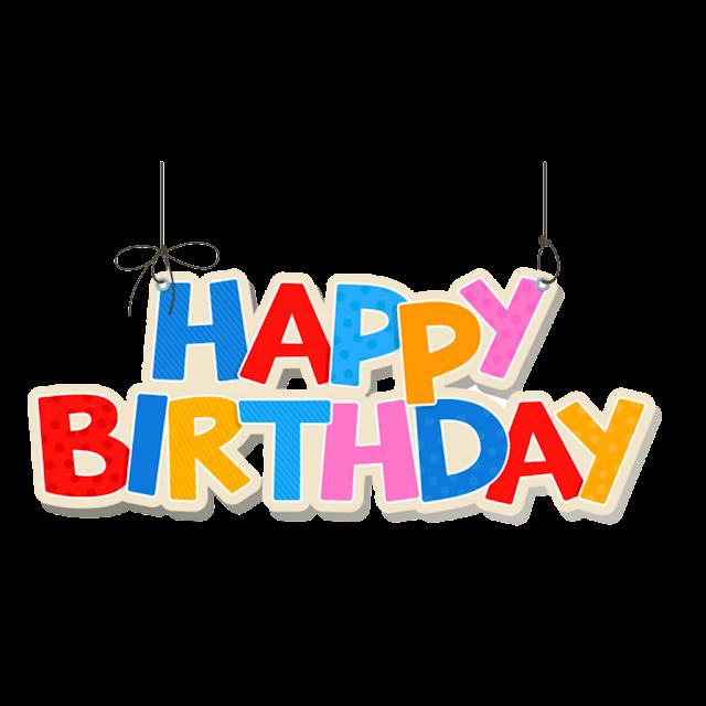 Happy Birthday png font