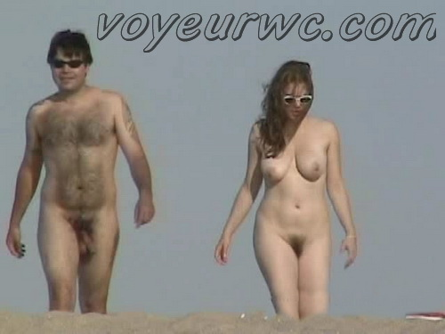 U.S. Nude Beaches 12 (Beach spy cam is working and spying so many nude bodies of people resting on the golden sand)