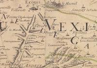 Carte particulière du diocèse de Rouen dressée sur les lieux (c) BnF