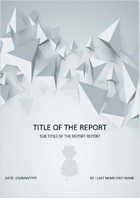 Céer une page de garde de votre rapport de stage - memoire - 2021