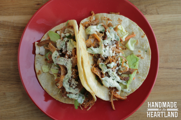 slow cooker pulled pork taco recipe