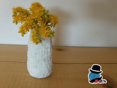vaso vetro fai da te fiori