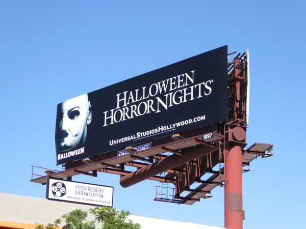 Halloween Horror Nights Michael Myers billboard