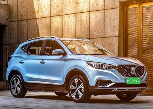 MG MOTOR reveille her ZS EV in india.
