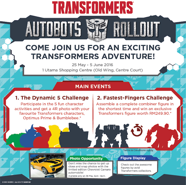 "TRANSFORMERS Autubots Set To ""Roll Out"" In 1 Utama"