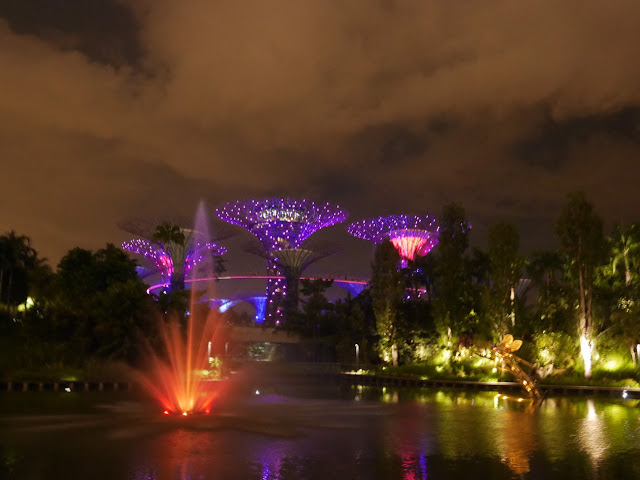 light show in Singapore