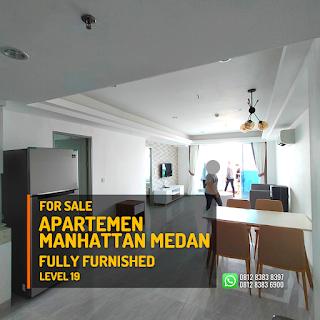 Ruang Keluarga Unit Apartemen Murah Fully Furnished - Tinggal Bawa Koper - The Manhattan Condominium dan Apartemen Ring Road Medan