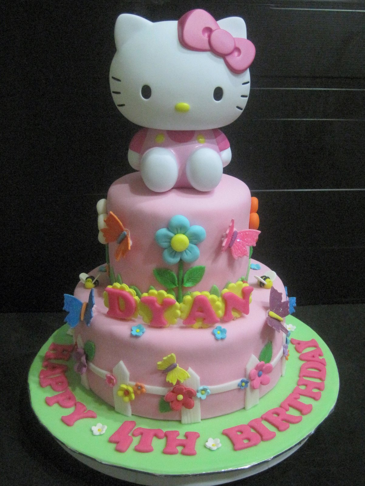 Cupcake Divinity Hello Kitty Garden Theme Cake