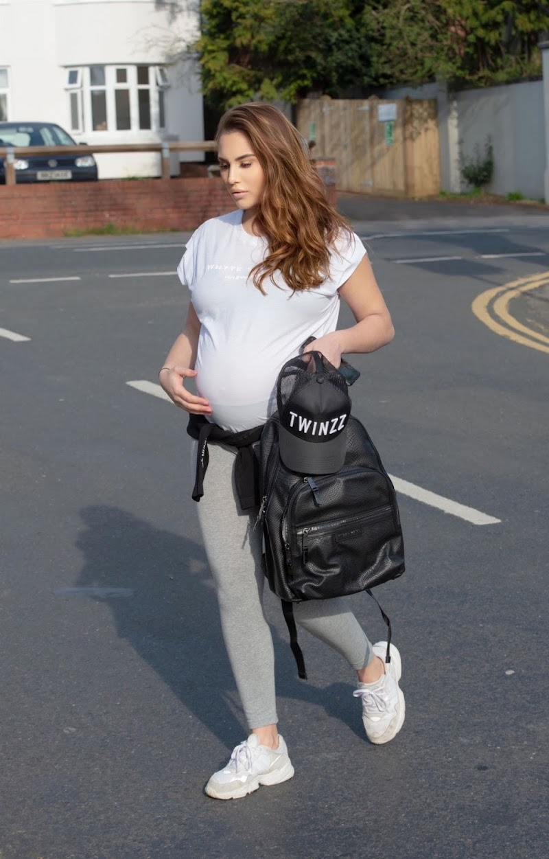 Pregnant Chloe Goodman Clicked Outside in Hove 10 Apr-2020