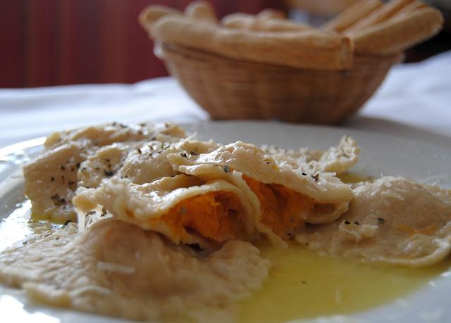 Ravioli de Calabaza y Gorgonzola