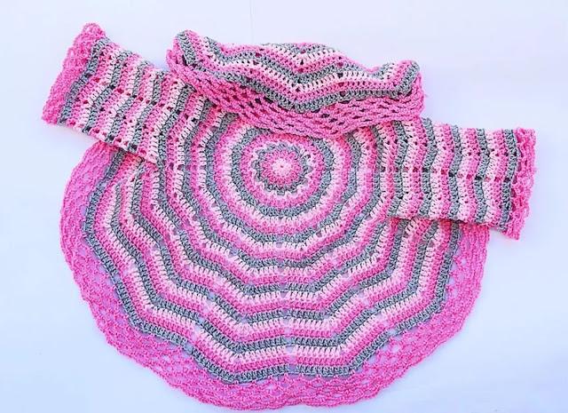 Tutorial Abrigo en Redondo para Niña a Crochet