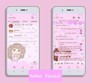 Meninha Girl Theme For YOWhatsApp & Fouad WhatsApp By Michele