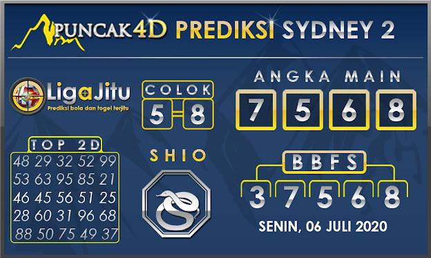 PREDIKSI TOGEL SYDNEY2 PUNCAK4D 06 JULI 2020