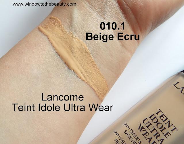 Lancome Teint Idole Ultra 010.1 beige ecru swatches