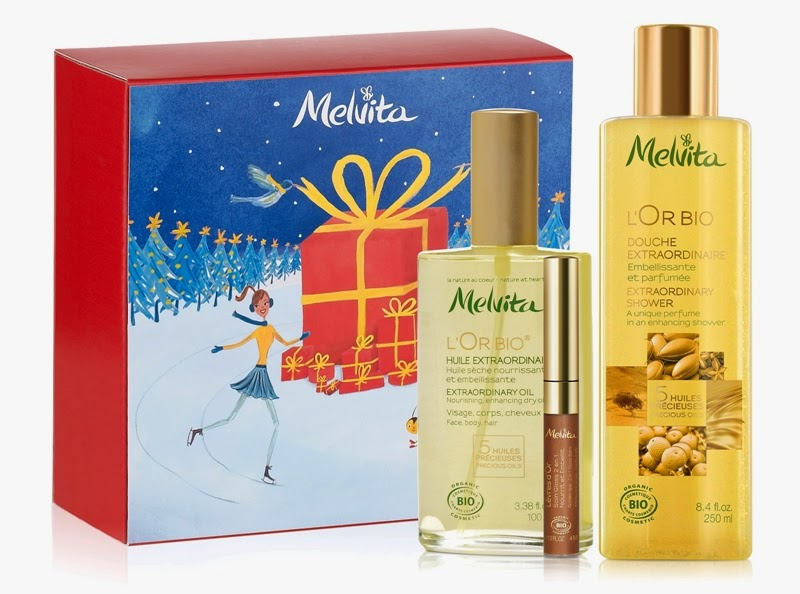 L'Or Bio Radiance, L'Or Bio Extraordinary Oil, L'Or Bio Extraordinary Shower, L'Or Bio Golden Lips 2-in-1 Gloss Balm, Melvita Christmas Gift Sets, Melvita, Melvita Malaysia, Christmas Set, Christmas Gift