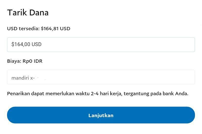 Cara withdraw di melalui bank lokal