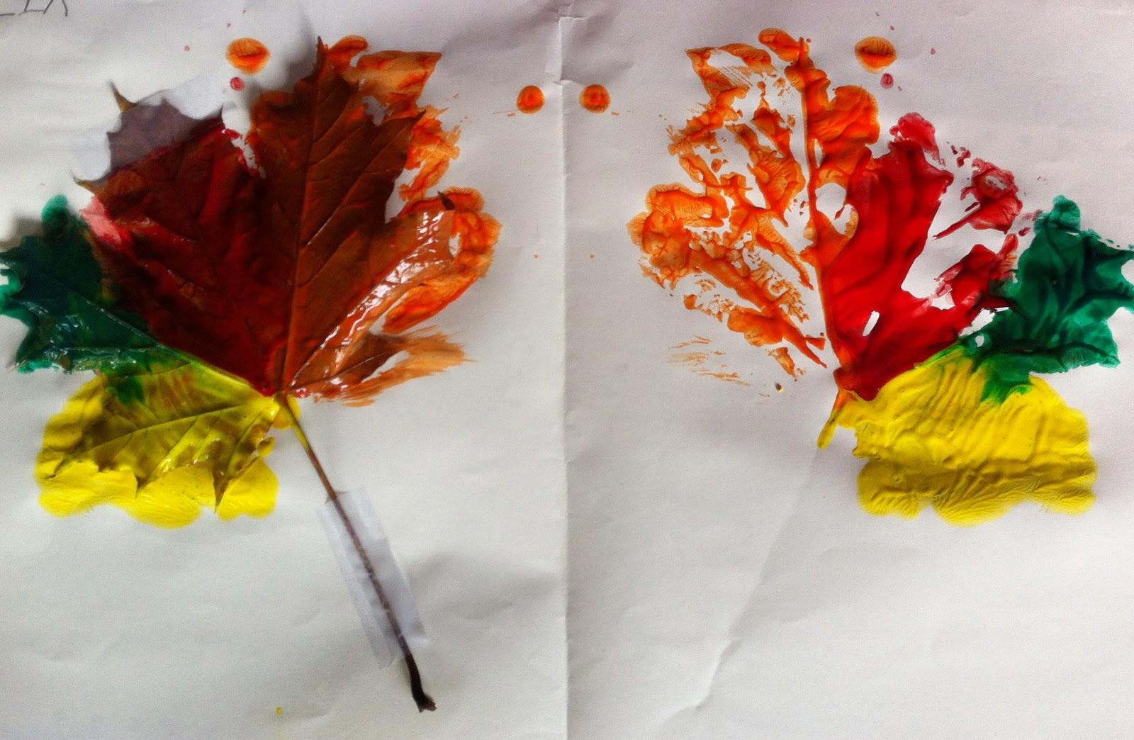 Nogginmama: Fall Leaf Printing