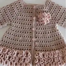 Cardigan Bebé a Crochet