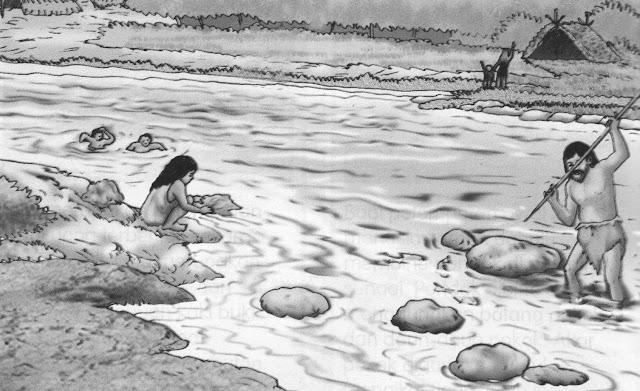 Gambar ilustrasi sejarah menangkap ikan