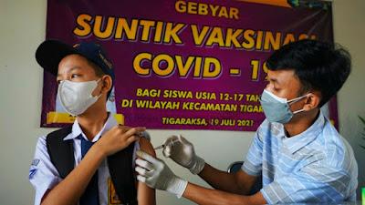 100 Ribu Dosis disiapkan Untuk Vaksinasi Pelajar di Kabupaten Tangerang