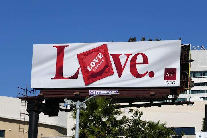 Love Condoms AHF billboard
