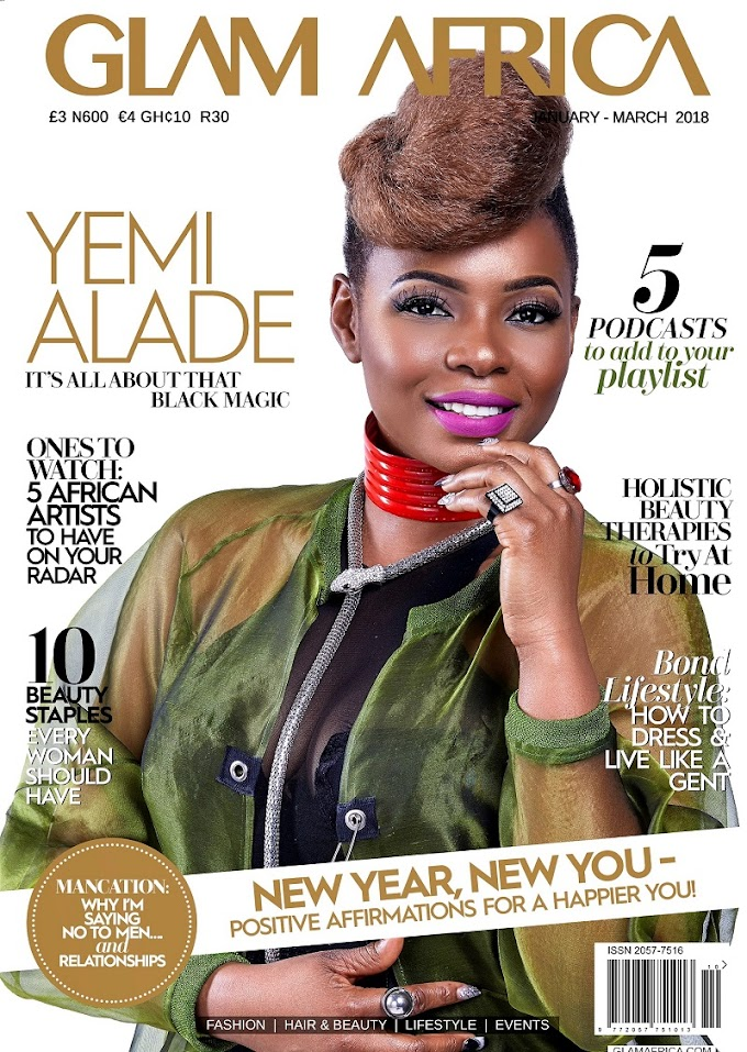 It's all about that Black Magic with Yemi Alade as she covers Glam Africa Magazine